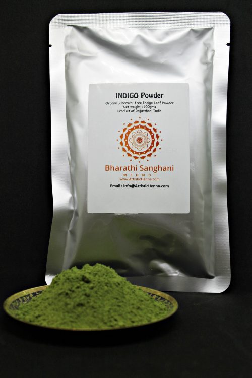Use our Indigo powder for hair, in conjunction with henna in order to achieve shades of hair colour varying from a dark brown to black.